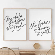 Load image into Gallery viewer, Psalm 121:2 Set of 2  Downloadable Print