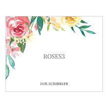 Load image into Gallery viewer, Roses3 Notecards - ink scribbler