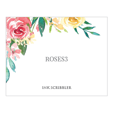 Roses3 Notecards - ink scribbler