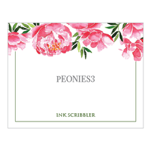 Load image into Gallery viewer, Peonies3 Notecards