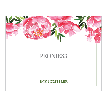 Peonies3 Notecards