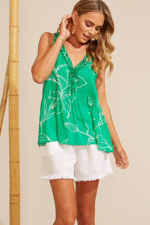 Algarve Frill Top - Jade Lily - The Haven Co