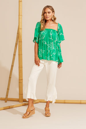 Algarve Off Shoulder Top - Jade Lily - The Haven Co