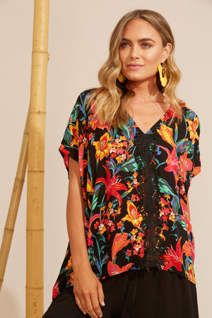 Algarve Top - Floral Lily - The Haven Co