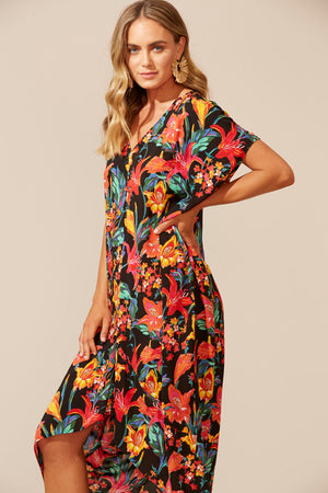 Algarve Kaftan - Floral Lily - The Haven Co