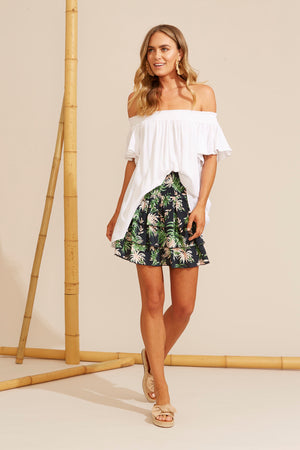 Sardinia Off Shoulder Top - Salt - The Haven Co