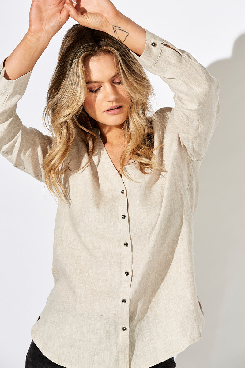 Fontalina Shirt - Almond - The Haven Co