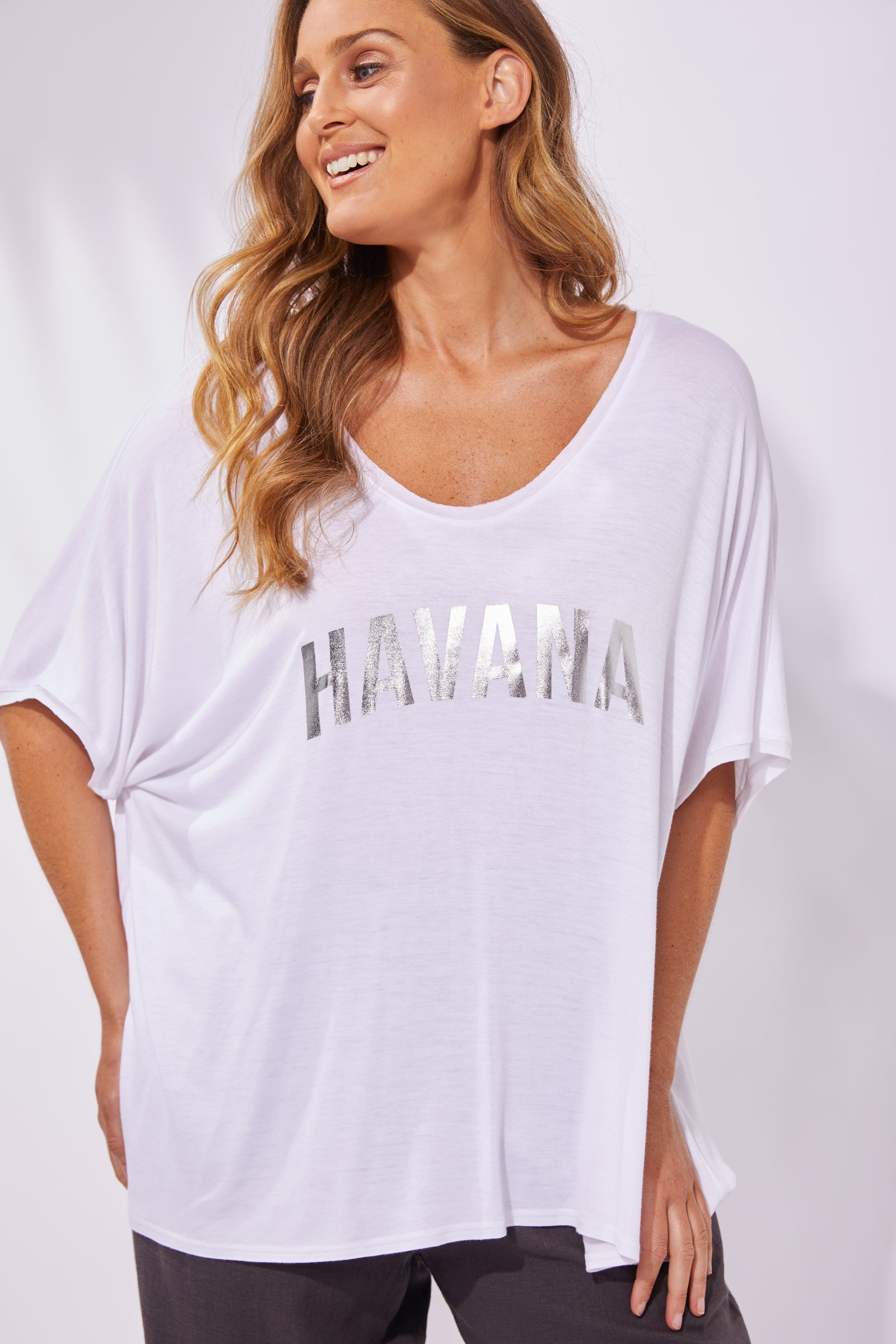 Havana Tshirt - Salt - The Haven Co