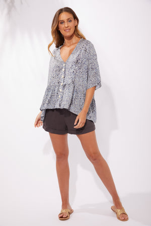 Havana Top - Havana Blue - The Haven Co