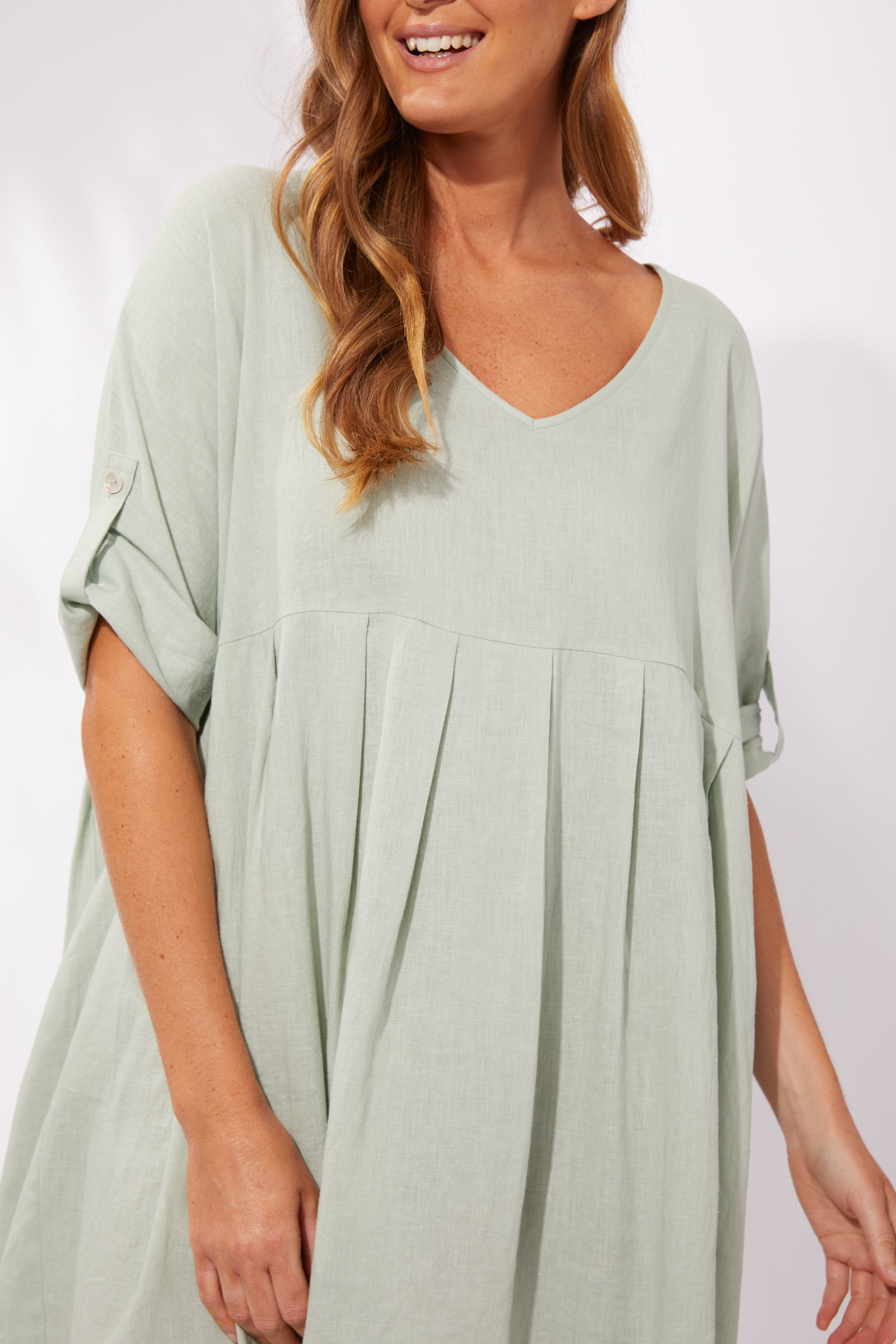 Cuban V Top/Dress - Mint - The Haven Co