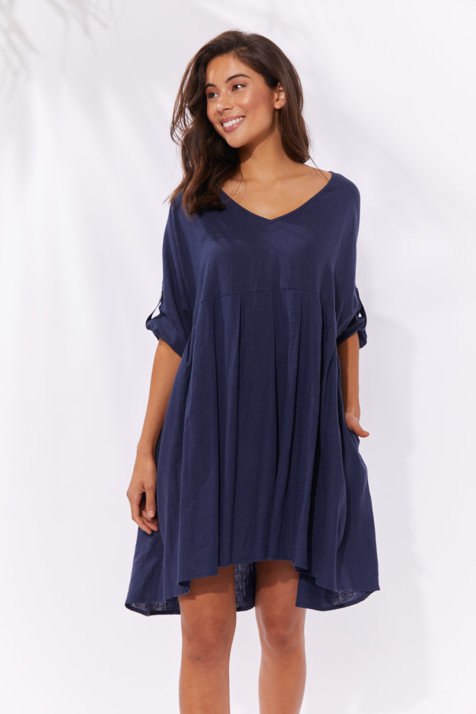 Cuban V Top/Dress - Denim - The Haven Co