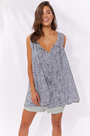 Havana Blouse - Havana Blue - The Haven Co
