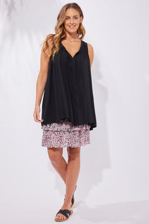 Havana Blouse - Black - The Haven Co