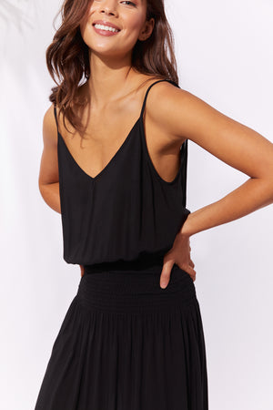 Havana Strap Dress - Black - The Haven Co