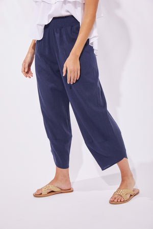 Cuban Pant - Denim - The Haven Co