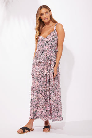 Havana Frill Maxi - Havana Pink - The Haven Co
