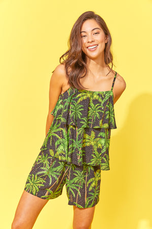 Paradise Top - Black Palm - The Haven Co