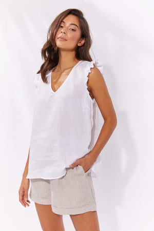 Palma Top - White - The Haven Co
