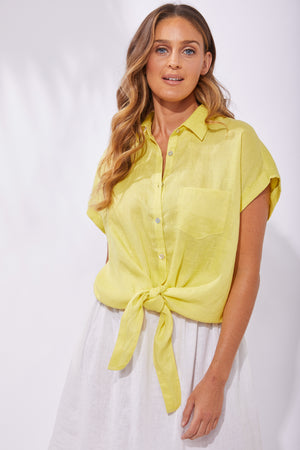 Palma Shirt - Lemon - The Haven Co