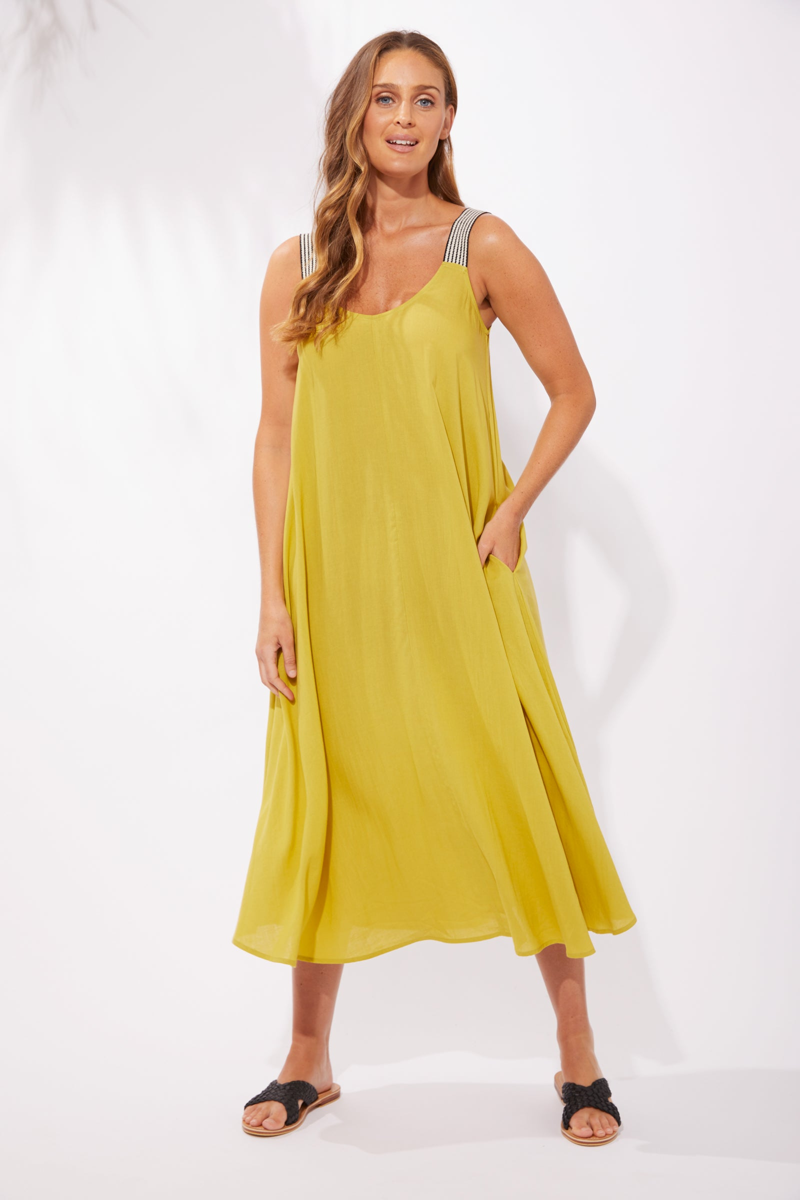Paradise Tank Maxi - Lime - The Haven Co