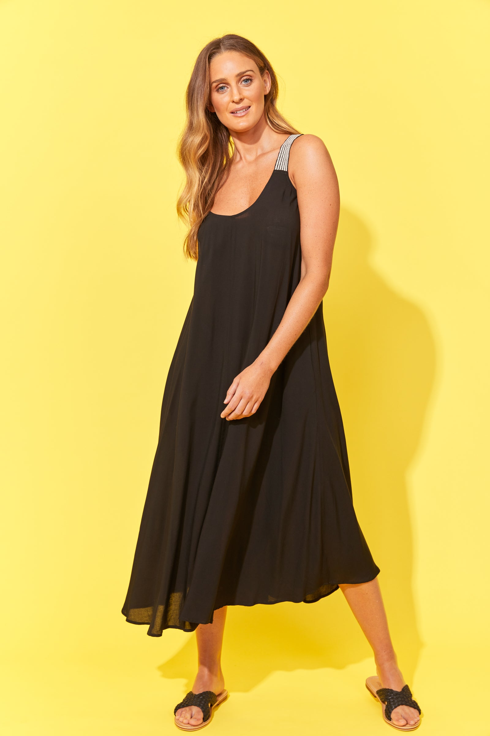Paradise Tank Maxi - Black - The Haven Co