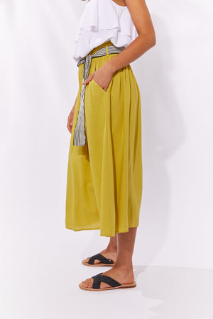 Palma Skirt - Lime - The Haven Co