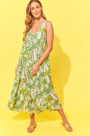 Paradise Maxi - Lime Palm - The Haven Co