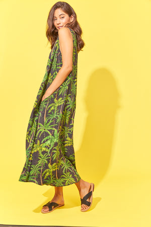 Paradise Maxi - Black Palm - The Haven Co