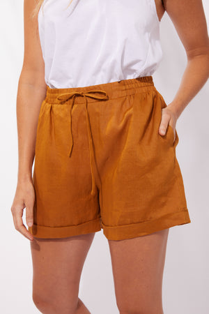 Majorca Shorts - Caramel - The Haven Co