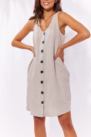 Majorca Tank Dress - Sand - The Haven Co