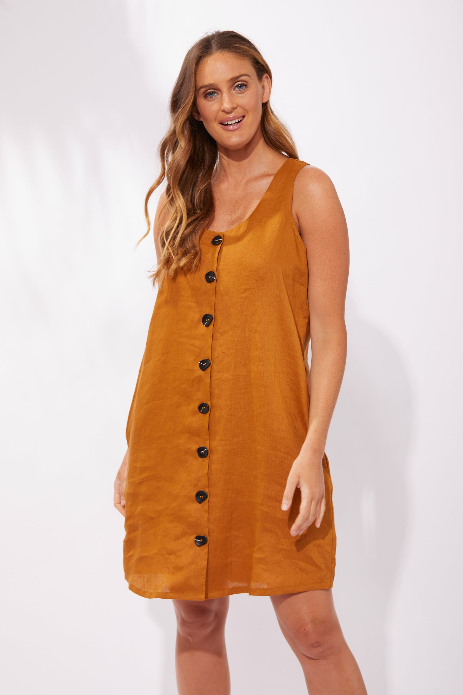 Majorca Tank Dress - Caramel - The Haven Co