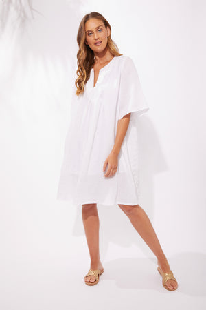 Majorca Dress - White - The Haven Co