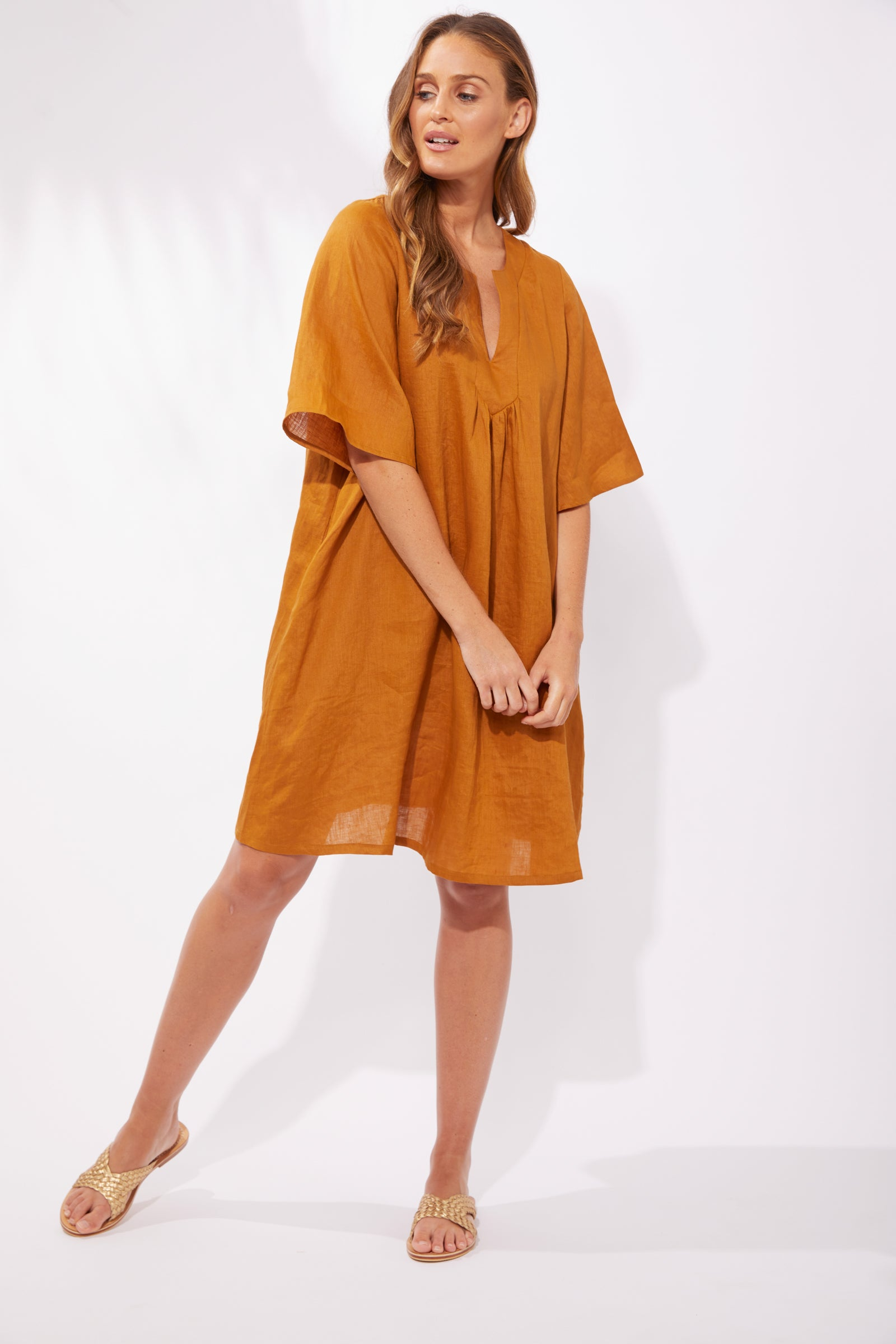 Majorca Dress - Caramel - The Haven Co