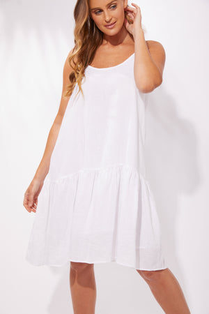Majorca String Dress - White - The Haven Co