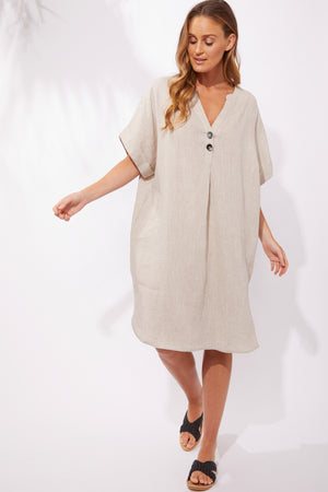 Majorca Shirt Dress - Sand - The Haven Co