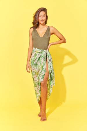 Paradise Sarong / Scarf - Lime Palm - The Haven Co