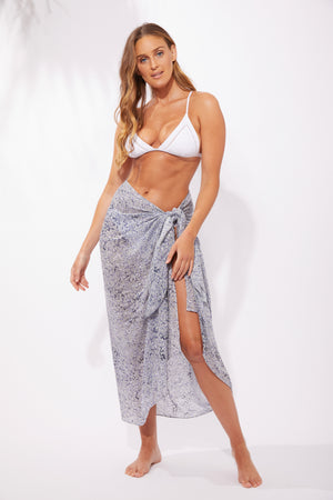 Havana Sarong / Scarf - Havana Blue - The Haven Co