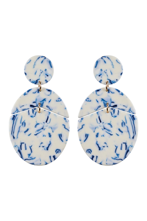 Paradise Oval Earring - Tahiti - The Haven Co