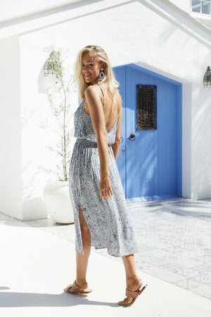 Havana Strap Dress - Havana Blue - The Haven Co