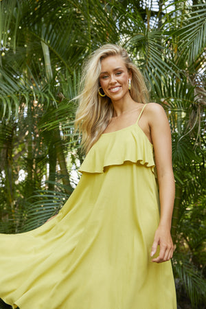 Paradise Dress - Lime - The Haven Co