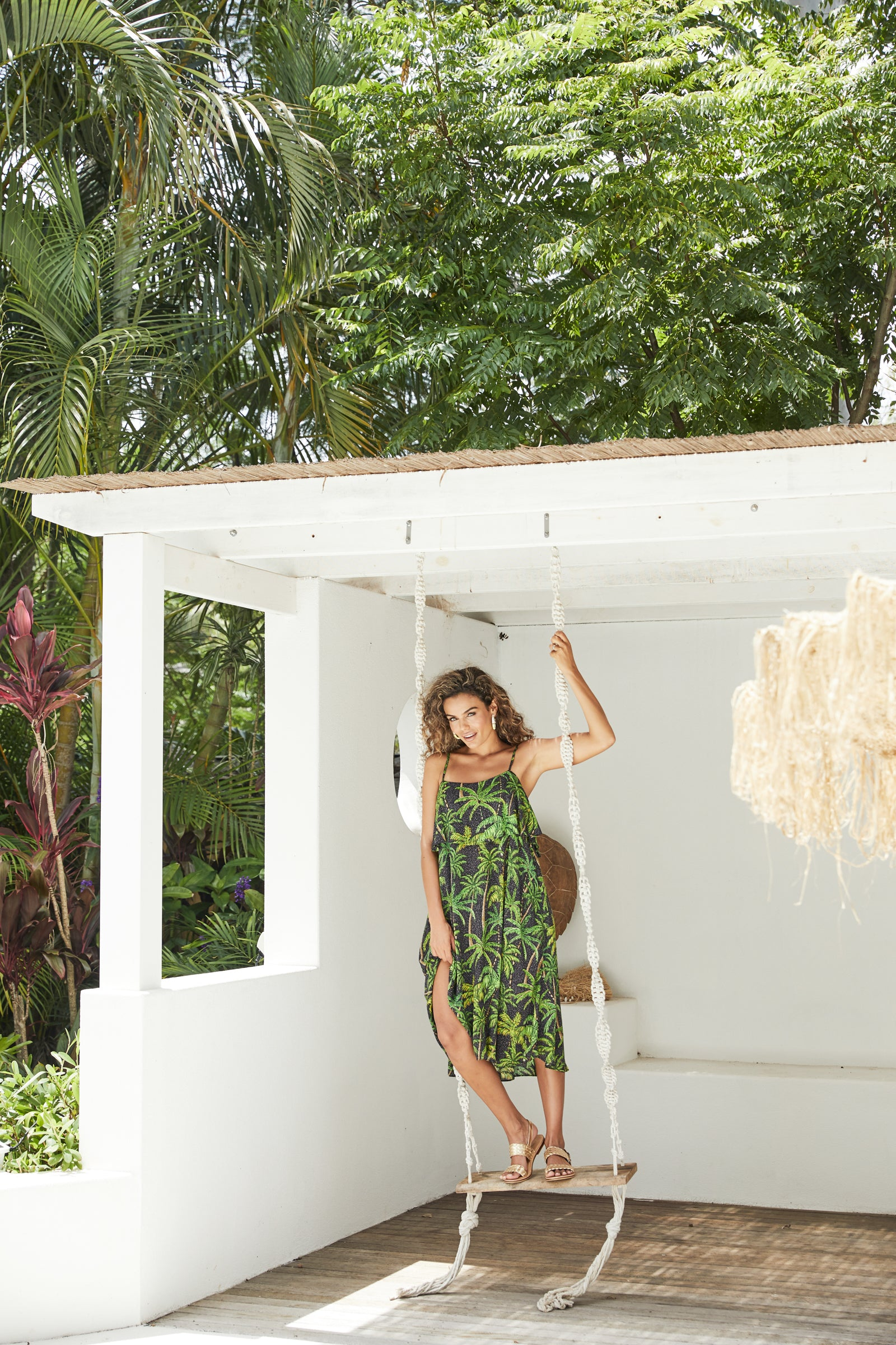 Paradise Dress - Black Palm - The Haven Co