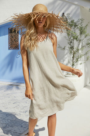 Palma Tank Dress - Sand - The Haven Co