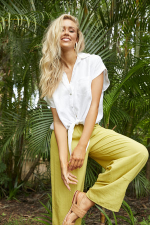 Paradise Pant - Lime - The Haven Co