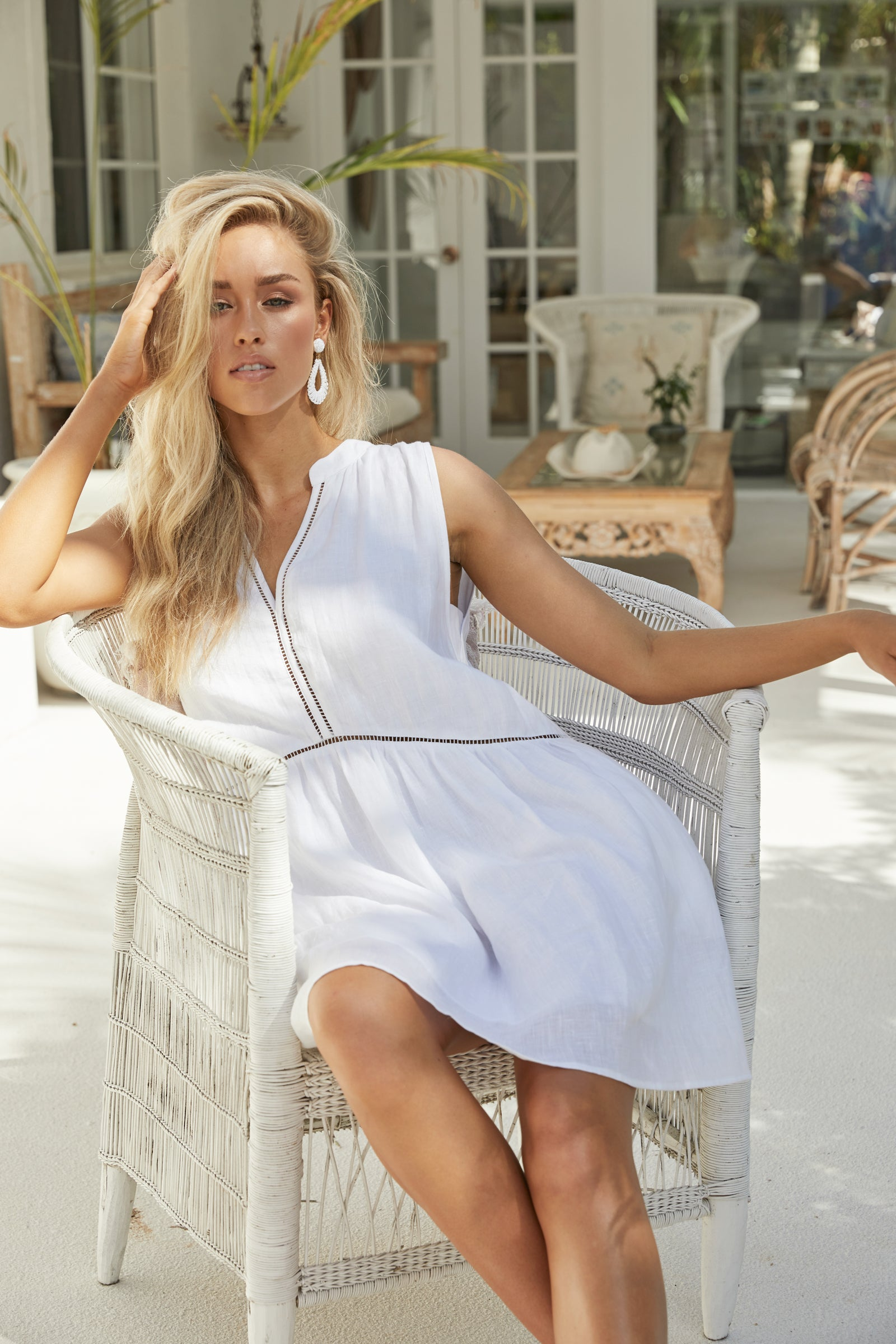 Palma Dress - White - The Haven Co