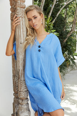Majorca Shirt Dress - Marina - The Haven Co