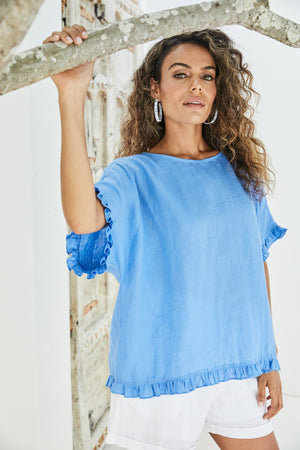Majorca Frill Top - Marina - The Haven Co