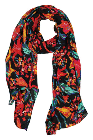 Algarve Sarong / Scarf - Floral Lily - The Haven Co