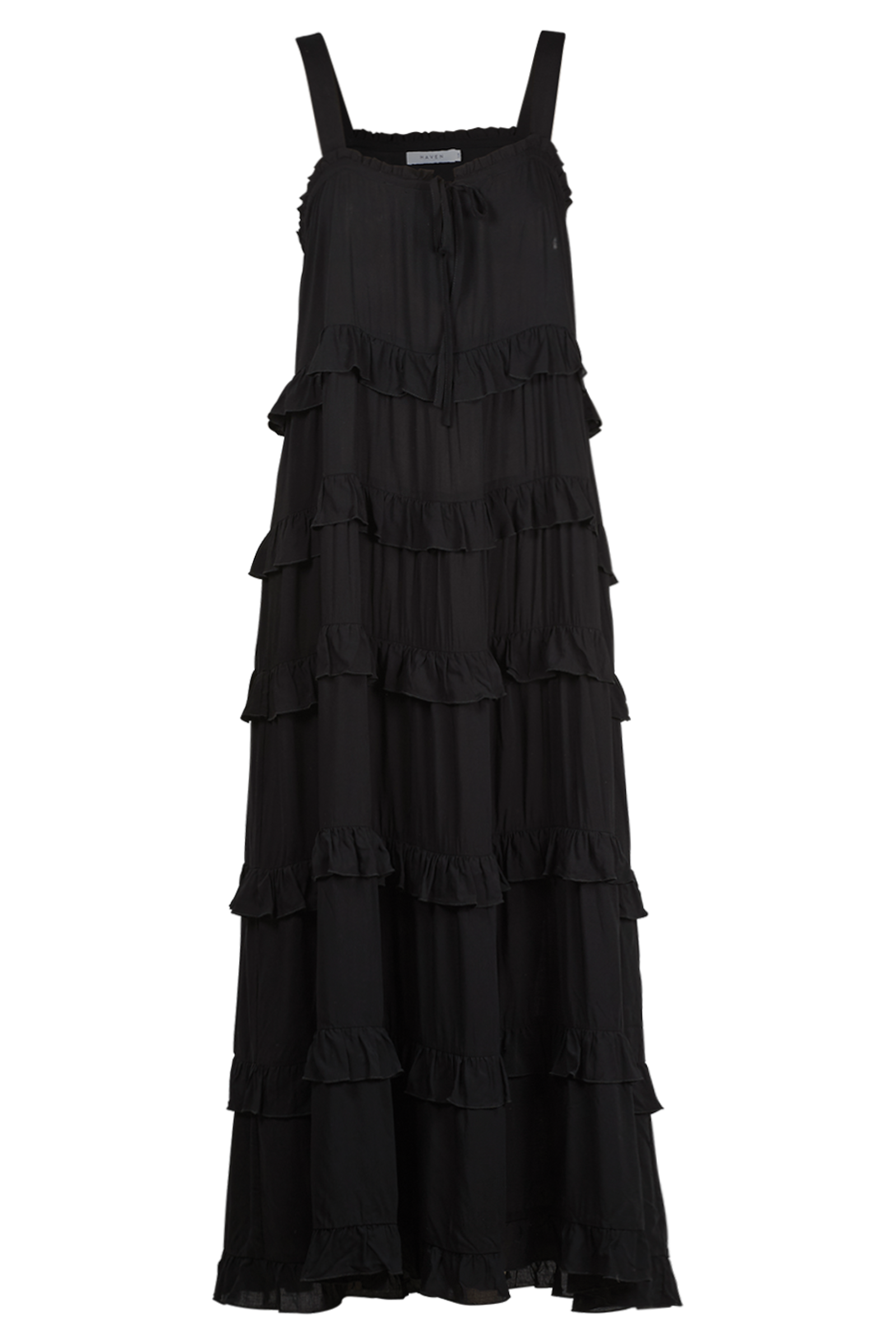 Havana Frill Maxi - Black - The Haven Co