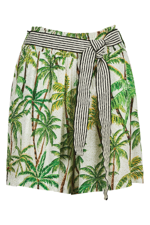 Paradise Shorts - Lime Palm - The Haven Co