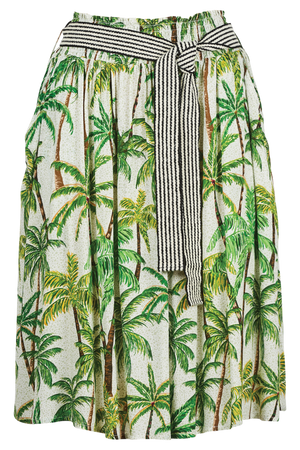 Paradise Skirt - Lime Palm - The Haven Co